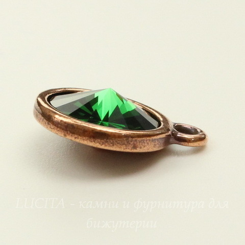 """Сеттинг - основа - подвеска TierraCast """"Грани"""" для страза 12 мм (цвет-античная медь)"""