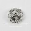 Винтажный декоративный элемент - шапочка 13х6 мм (оксид серебра)