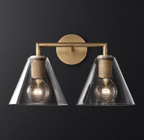 Utilitaire Funnel Shade Double Sconce