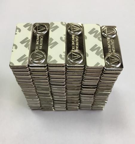 Магнитный бейдж 41х13 мм, металл