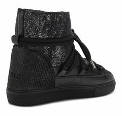 Высокие комбинированные кеды INUIKII Sneaker burret black на меху