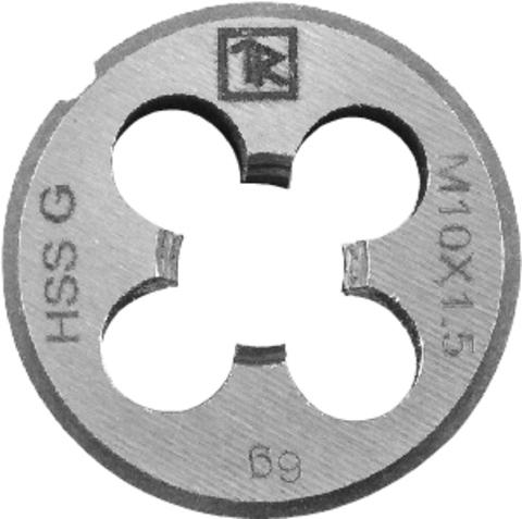 Плашка D-DRIVE круглая ручная с направляющей в наборе М10х1.5, HSS, Ф25х9 мм