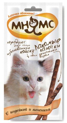 Мнямс лакомые палочки 13,5 см для кошек в ассортименте 5 г (1 штука)