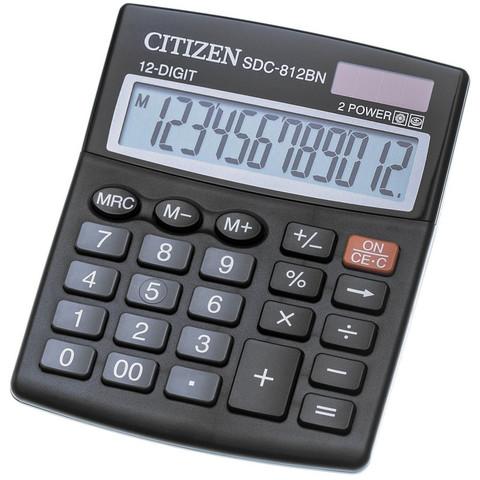 Калькулятор настольный CITIZEN бухг. SDC812BN 12 разрядов DP