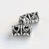 Бейл ажурный (цвет - античное серебро) 12х9 мм