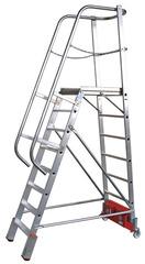 Лестница с платформой VARIO, траверса 2000 14 ступ.