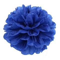 Помпон из бумаги, 30 см, темно-синий