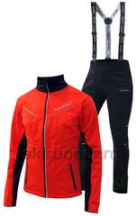 Детский утеплённый лыжный костюм Nordski Premium 2018 Red-black