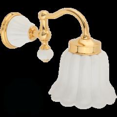 Светильник настенный, плафон керамика  Migliore Olivia ML.OLV-60.631.BI.DO Белый/золото