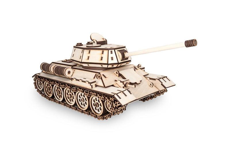 Конструктор из дерева Танк Т-34 (EWA)