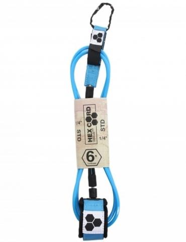 Лиш Hex Cord Std 6' 1/4, Ocean Blue