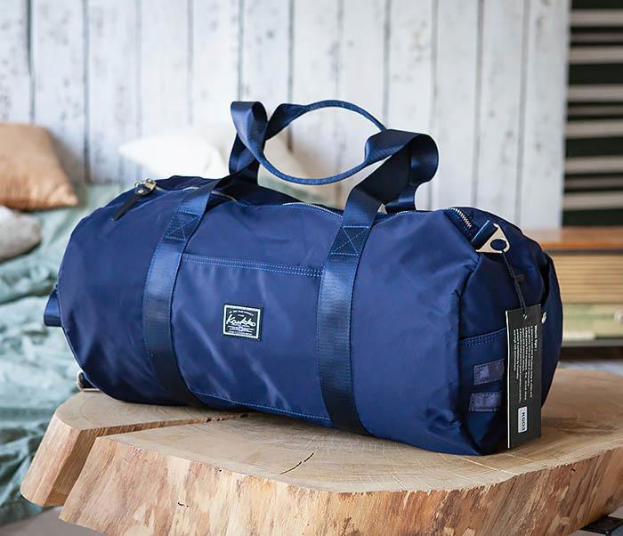 BAG481-4 Сумка из ткани синего цвета с ремнем на плечо