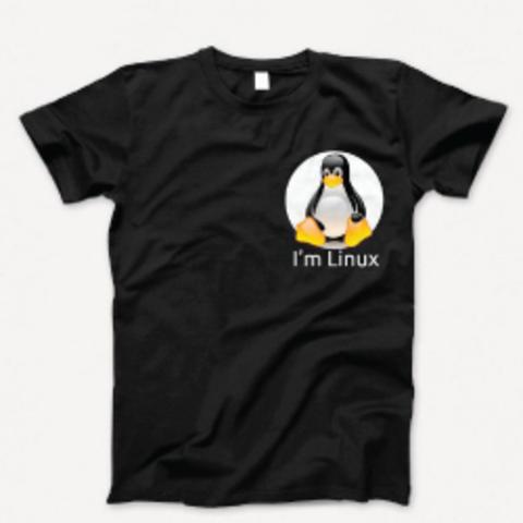 Футболка мужская «I`m Linux»