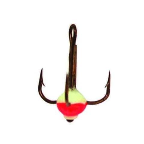 Крючок-тройник с каплей Lucky John, размер №14, цвет 02