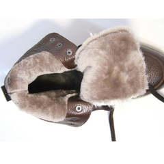 Кожаные ботинки с мехом женские Studio27 576c Broun.