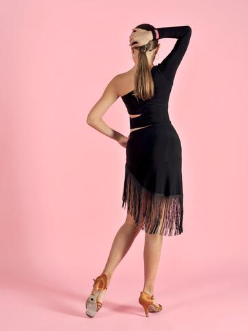 Платье для танцев с бахромой