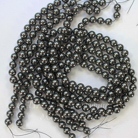 5810 Хрустальный жемчуг Сваровски Crystal Black круглый 3 мм, 10 шт