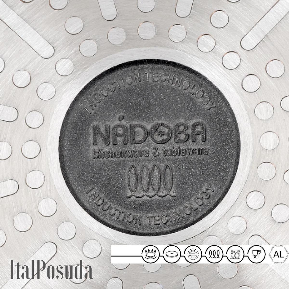 Сковорода Гриль со съемной ручкой NADOBA VILMA, 26х26 см