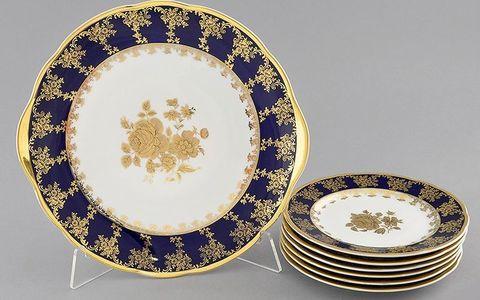 Сервиз для торта 7 предметов с тарелками десертными 17 см Мэри-Энн Leander