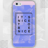 Чехол для iPhone 7+/7/6s+/6s/6+/6/5/5s/5с/4/4s IT'S NICE TO BE NICE