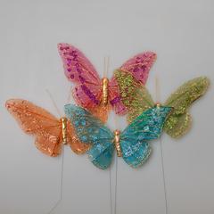Бабочка на прищепке (24шт.) 2108