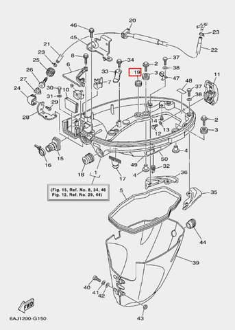 Втулка для лодочного мотора F20 Sea-PRO (15-19)