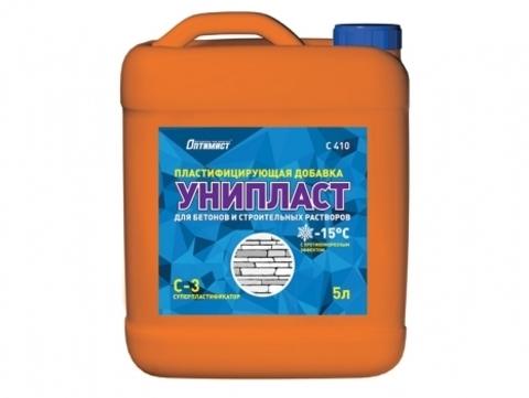 Оптимист УНИПЛАСТ пластифицирующая добавка для бетонов и строительных растворов с противоморозным эффектом C410