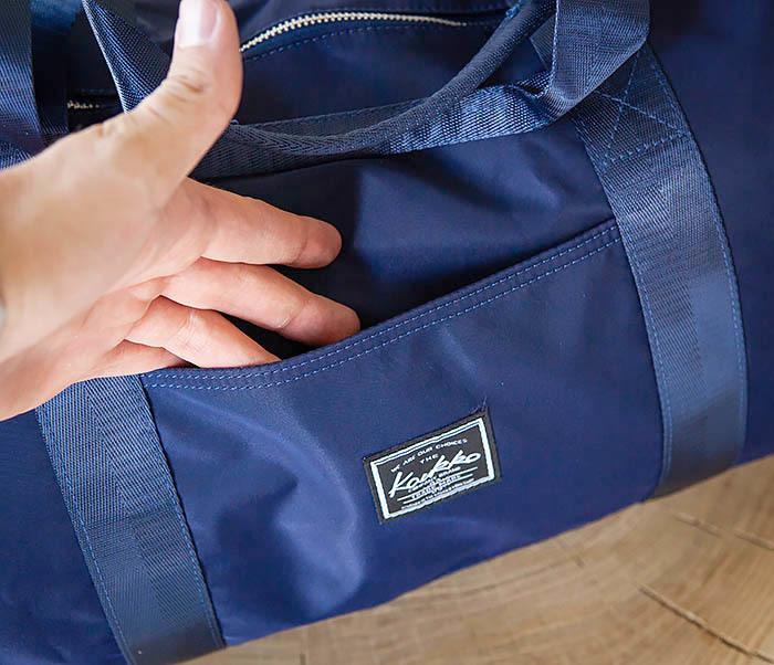 BAG481-4 Сумка из ткани синего цвета с ремнем на плечо фото 04
