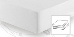Простыня трикотажная 120-130х200 Elegante 8000 белая