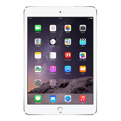 iPad mini 3 Wi-Fi + Cellular 64Gb Silver - Серебристый