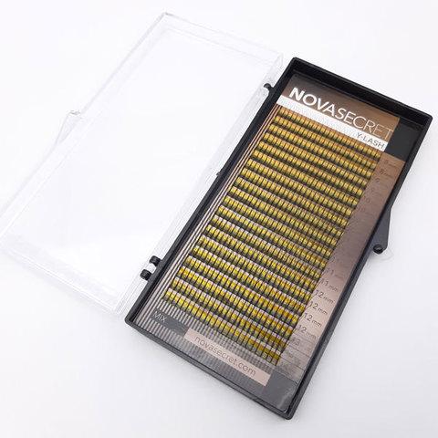 """Ресницы для наращивания NOVASEСRET ultimate черные, 2-D (Y-тип), изгиб """"CC mix"""""""