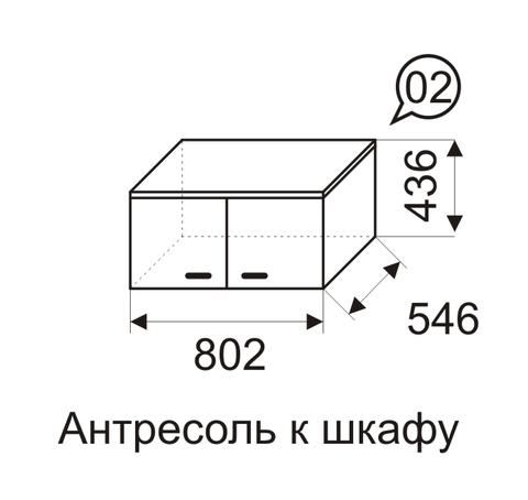Антресоль к шкафу 02 Принцесса-2
