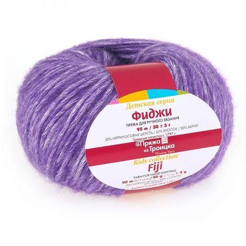 Пряжа Троицкая Фиджи 8353 меланж фиолетовый