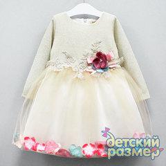 Платье (объёмные цветы)