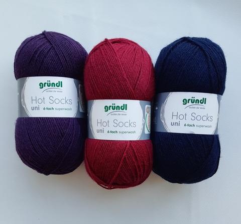Набор носочной пряжи Gruendl Hot Socks Uni 150