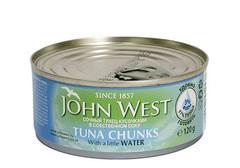 Тунец сочными кусочками в собственном соку John West, 120г