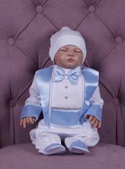Комплект на выписку для мальчика Beauty голубой