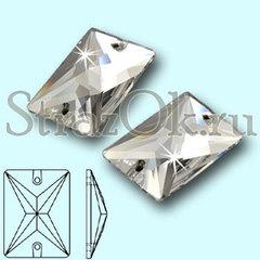 Стразы пришивные стеклянные Rectangle Crystal, Прямоугольник Кристал, прозрачный яркий на StrazOK.ru