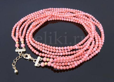 ожерелье из розового коралла