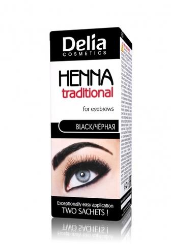 Delia Cosmetics Henna Traditional Краска для бровей и ресниц Черная