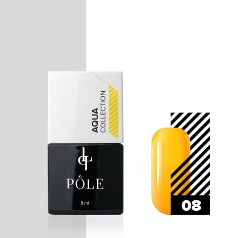 Краска POLE для акварельной техники Aqua Collection №08 оранжевая (8 мл)