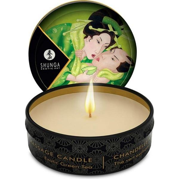 Массажные масла и свечи: Массажная свеча Exotic Green Tea с ароматом зелёного чая - 30 мл.