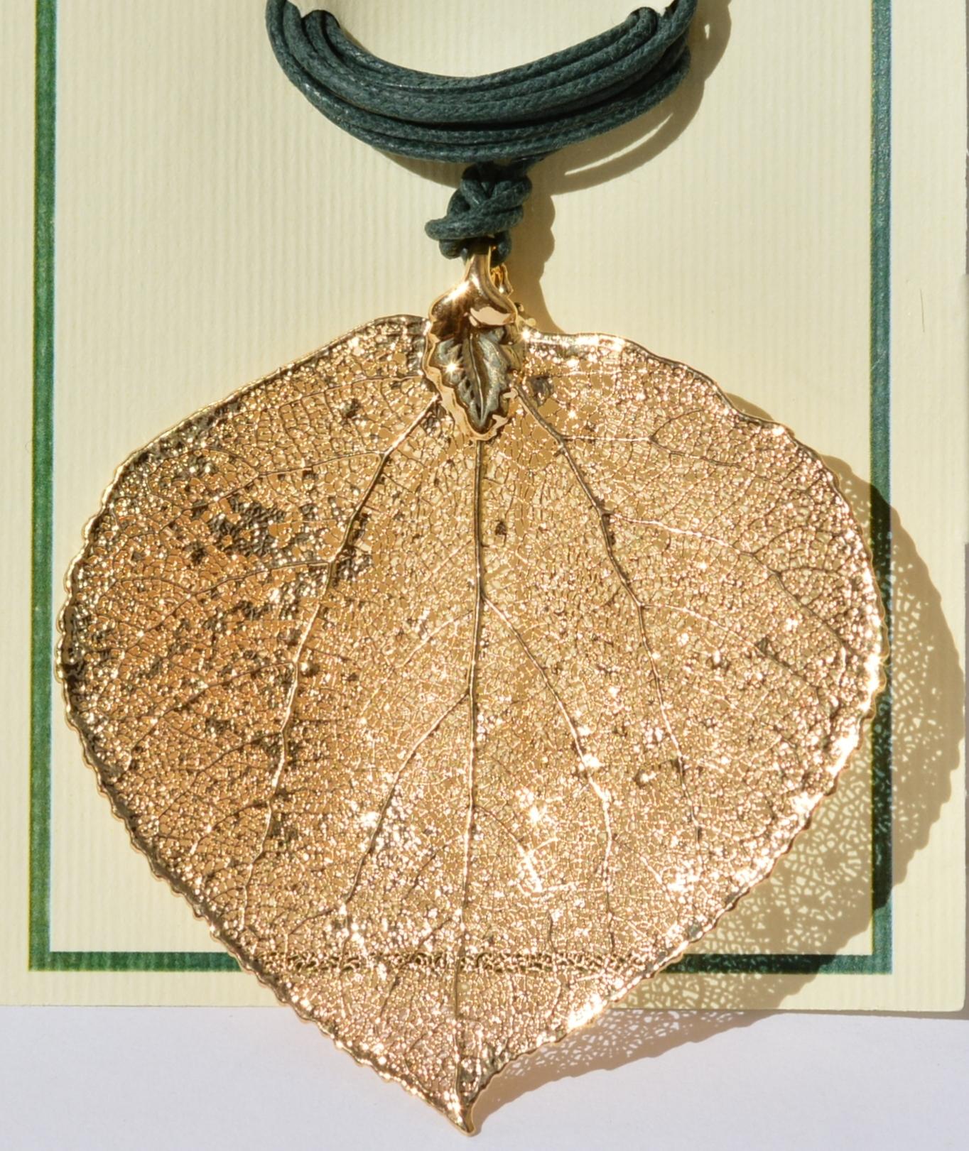 Осина малая (подвеска  из серебра)