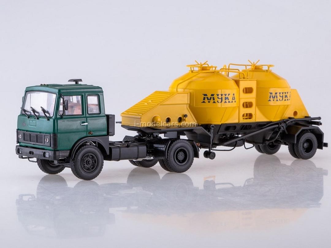 MAZ-5432 green and semitrailer K4-AMG 1:43 AutoHistory