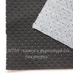 Кожа перфорированная (искусственная), черная, лист 30х20 см