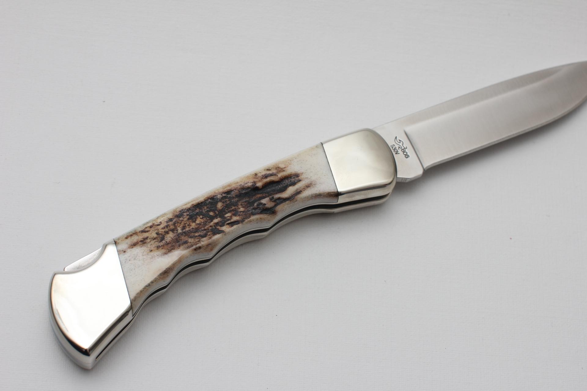 Нож BUCK Folding Hunter 110 S30V custom - фотография
