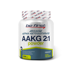 Be First AAKG 2:1 Powder (Arginine AKG) (200 гр/малина)