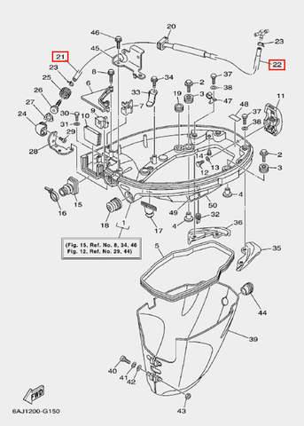 Оплетка трубки для лодочного мотора F20 Sea-PRO (15-21-22)
