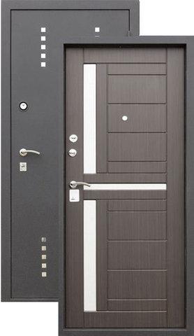 Дверь входная Алмаз Талисман, 2 замка, 1,5 мм  металл, (шёлк бордо+венге)