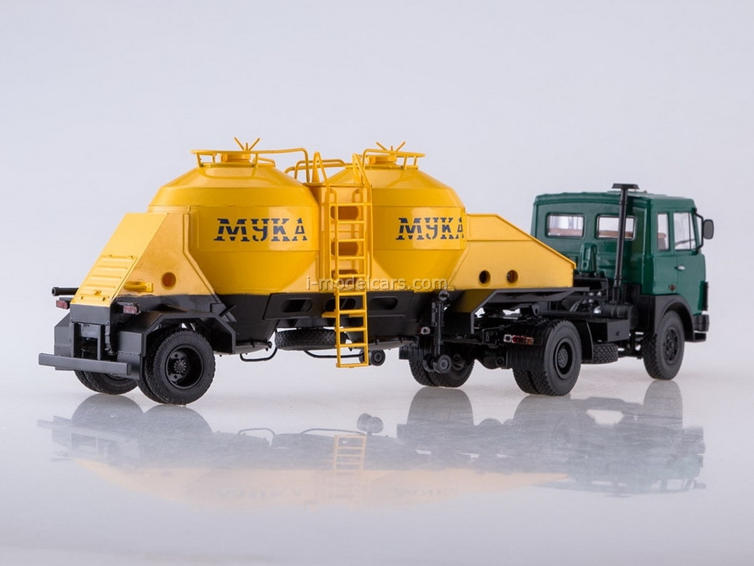 MAZ-5432 green and semitrailer K4-AMG 1:43 AutoHistory